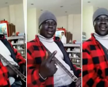 African Man Does Perfect Impression Of Men And Women's Parts In Bollywood Music 9