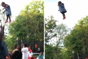 Dad Throws Daughter High In The Air And The Mom Is Not Having Any Of It 12