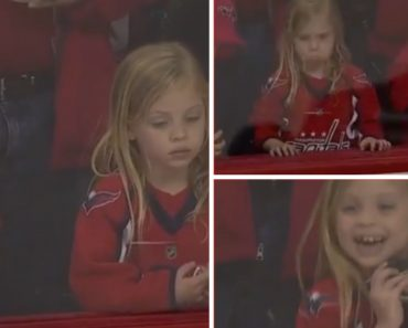 Puck Drama Sends Little Girl On An Emotional Roller-Coaster At NHL Hockey Game 8