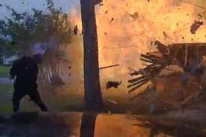 Watch House Explode in Front of Cops 12