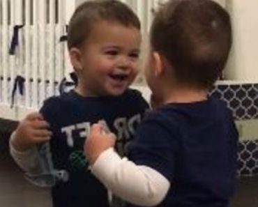 Mom And Dad Caught Their Son Doing Something Hilarious (And Relatable) In The Mirror 5