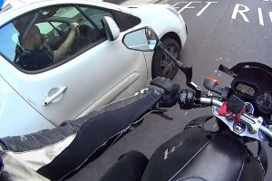 Motorcyclist Captures Moment He Was Nearly Knocked Down By A Driver Who Was Picking His Nose 12