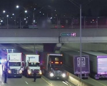 Tractor-Trailers Rally Under Bridge to Save Suicidal Man 9