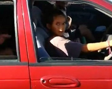Bizarre Footage Of A Child Driving A Car With A Goat In The Boot 6