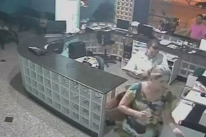 The Incredible Moment a Quick Thinking Receptionist Catches a Falling Tot After Bungling Dad DROPS Him 10