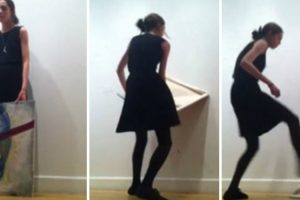 Art Student Freak Out And Smashes Painting After Classmates Critique Her Work 12