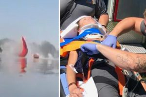 Skydiver Survives After Plunging Into Lake 10