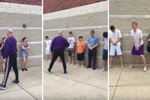 High School Kids Line Up To Get Pepper Sprayed For Criminal Science Class 11