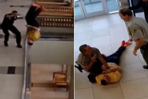 Handcuffed Man Injured After Jumping Off Courthouse Balcony 11