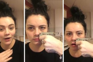 Video Shows The Moment A DIY Beauty Fan Gets A £5 Piercing Gun She Bought On Ebay Stuck In Her Nose 10