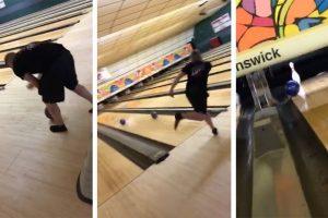 Bowlers Incredible Strike Trick Shot 12