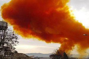 Chemical Plant Explodes With Reddish-Orange Color Smoke 10