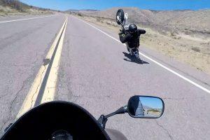 Bike Wheelie Stunt Goes Wrong On Open Road 11