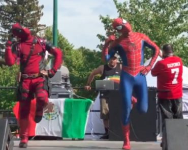What Did I Just See? It's Deadpool Dancing With Spiderman 7