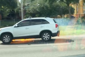 Woman Captures Kia Driving Whilst On Fire 10