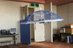 Engineer Demonstrates The Hands Free Umbrella Drone 'Parasol' 11