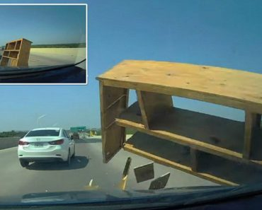 Driver Crashes Into Rogue Bookcase On Highway In Texas 4