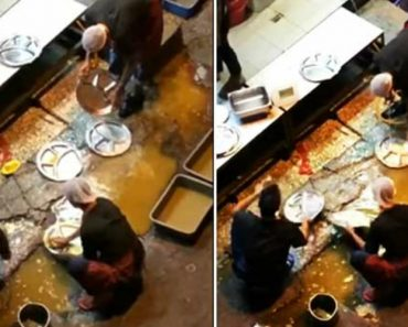Restaurant Staff Caught Washing Dishes In Dirty Puddle 3