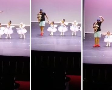 Dad Performs Ballet With Stage-Fight Stricken Daughter 3