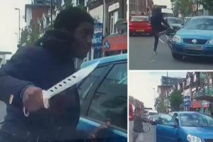 Cyclist Launches Road Rage Attack With Huge Knife After Near-Collision 11