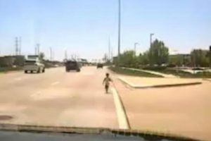 Cop Rescues Toddler Wandering Along Illinois Highway 10