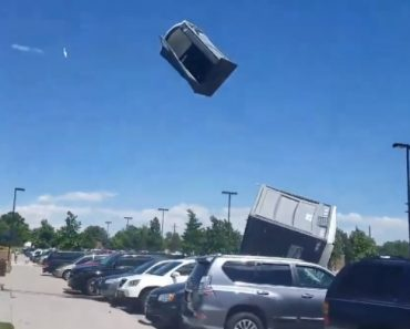 A Violent Windstorm Sends Porta Potties Flying Into the Air Spewing Their Contents Onto the Crowd 8