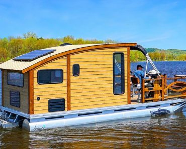 Woodworker Builds The Perfect Tiny House Boat for Life on the Water 3