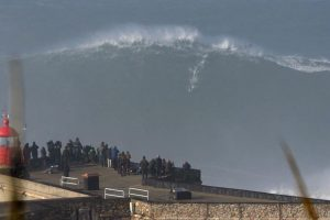 Surfing A Giant Wave in Nazare 11