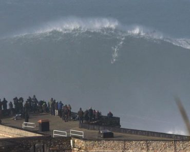 Surfing A Giant Wave in Nazare 9
