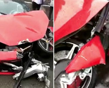 Woman Destroys A Ferrari 458 Only Minutes After Renting It 4