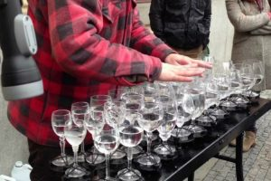 "Street Artist Defies Logic, Plays Perfect ""Hallelujah"" Using Only Crystal Glasses 10"