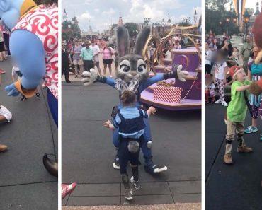 Boy Unable To Speak Dances With Disney Characters 9