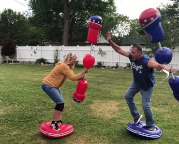 Hilarious Marriage Therapy With Inflatable Gladatior Fight 4