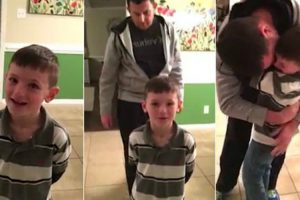Navy Father Gets Home Early From Deployment And Sneaks Up To Surprise His Son 11