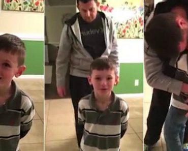Navy Father Gets Home Early From Deployment And Sneaks Up To Surprise His Son 7
