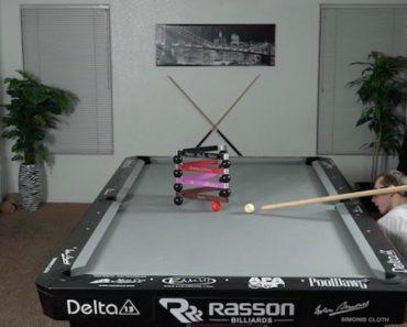 Amazing Pool Trick Shots Using a Broom 4