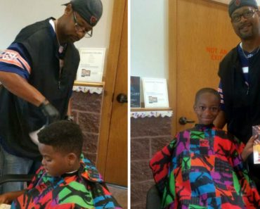 Inspirational Barber Gives Free Haircuts To Kids That Read To Him 2
