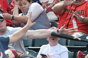 This Kid Was Milliseconds Away From Receiving a Loose Baseball Bat To The Face 12