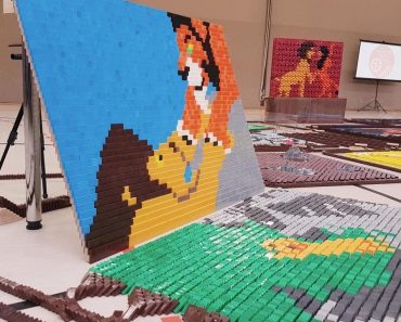 Lion King Story Told With 90,000 Dominoes 8