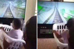 Little Girl Screams With Delight As She Rides A 'Rollercoaster' Created By Her Dad 12
