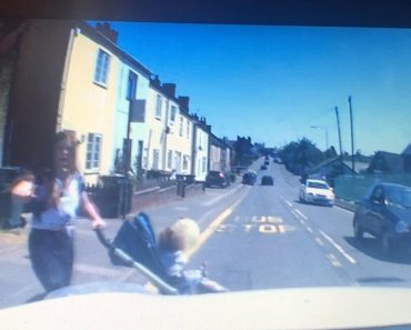 Shocking Moment Pushchair Rolls Into Road 2
