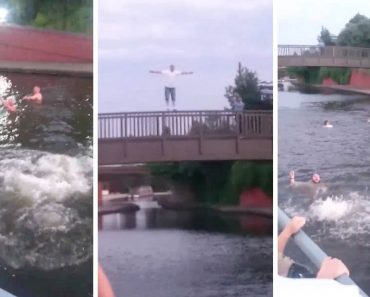 England Fans Jump Into Canal After Win Over Columbia 8