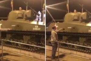 Man Disobeys Orders By 'Dad' To Get Out Of A Tank 11