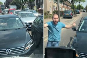 Angry Driver Tries To Cut Traffic On The Wrong Side Of Road 10