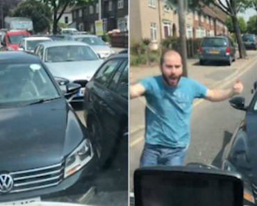 Angry Driver Tries To Cut Traffic On The Wrong Side Of Road 3