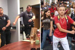 """Iowa Cops Break Into """"Backpack Kid"""" Dance 11"""