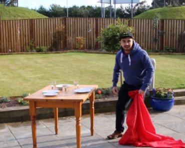 Guy Learns The Tablecloth Trick In 7 Seconds 2