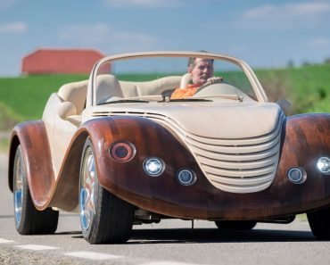 Man Spends $20,000 Building Wooden Concept Car 6