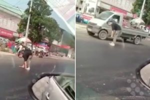 Man In China Gets Stuck To Street Due To Extreme Temperatures 10