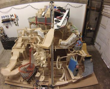 Man Spends Three Years Creating Epic 12ft Marble Mountain Machine… And He's Still Not Finished 3